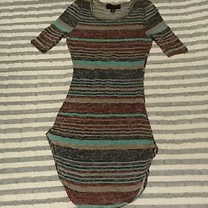 Almost famous, striped long sweater size xs